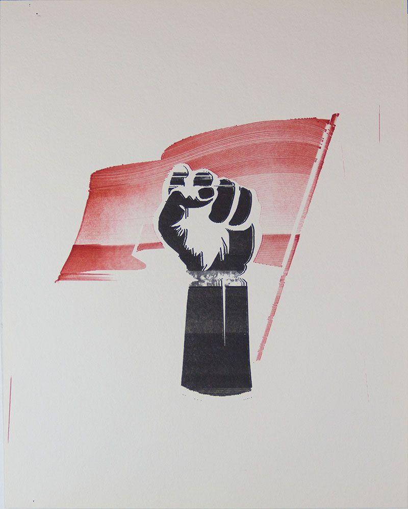 Rojo, negro y blanco (puño)