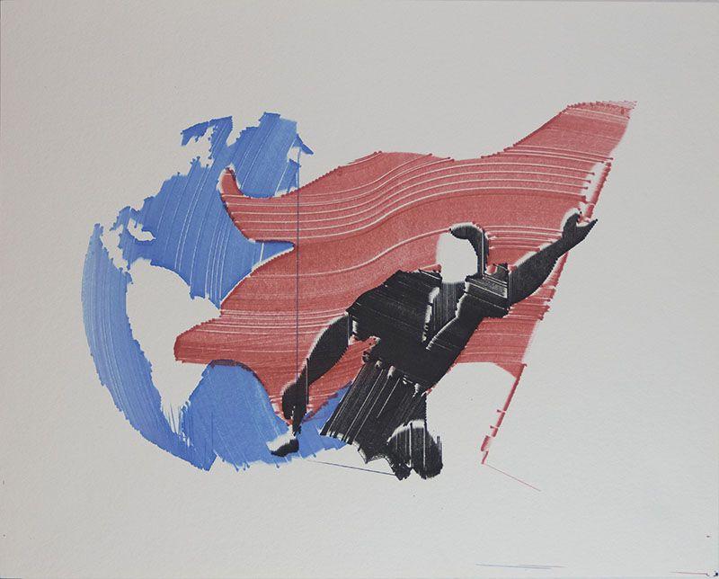 Rojo, negro y blanco (mundo y bandera)
