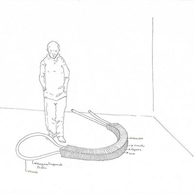 Boceto 5 preparatorio del proyecto orilla e infinito